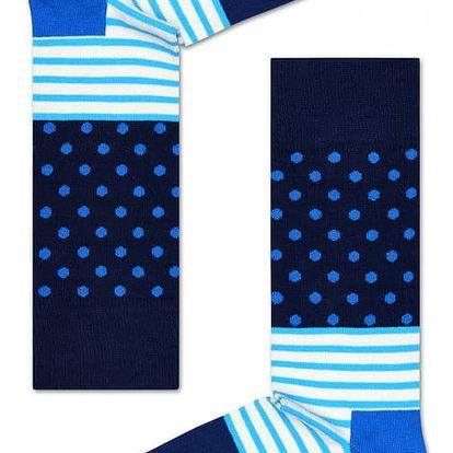 Happy Socks modré pánské ponožky Stripe Dot