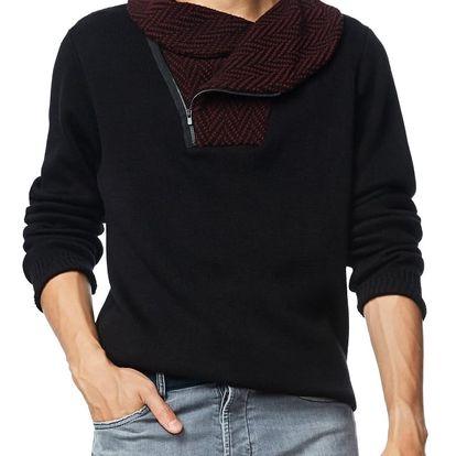 Desigual černý pánský svetr Daniel