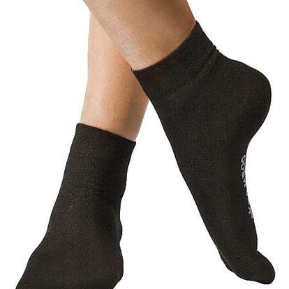 Ponožky Gino Bamboo Bezešvé Střední Černé