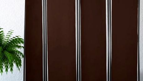 Paraván kovový 4 dílný hnědý