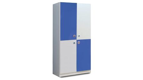 Sunny - Skříň dvoudveřová (alpská bílá s modrou)