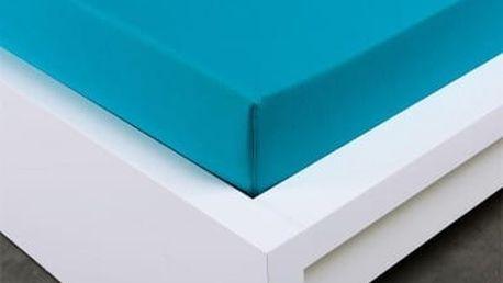 XPOSE ® Jersey prostěradlo Exclusive dvoulůžko - tyrkysová 200x220 cm