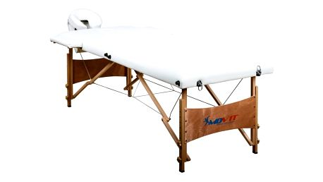 MOVIT 1295 Přenosné masážní lehátko DELUXE bílé 185 x 80 cm