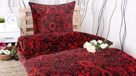 XPOSE ® Povlečení mikroflanel RUSLANA - červená 140x200, 70x90