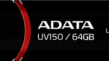 USB Flash ADATA UV150 64GB (AUV150-64G-RBK) černý USB 3.0
