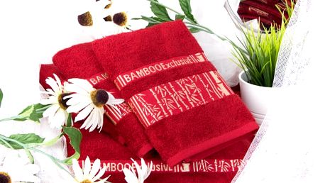 Night in Colours Bambusový ručník ARYA - vínová 50x90 cm