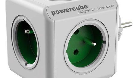 Zásuvka Powercube Original, 5x zásuvka bílá/zelená