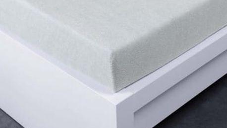 XPOSE ® Froté prostěradlo Exclusive dvoulůžko - světle šedá 180x200 cm