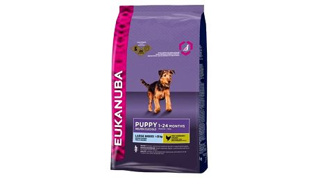Granule Eukanuba Puppy & Junior Large Breed 15 kg + Doprava zdarma