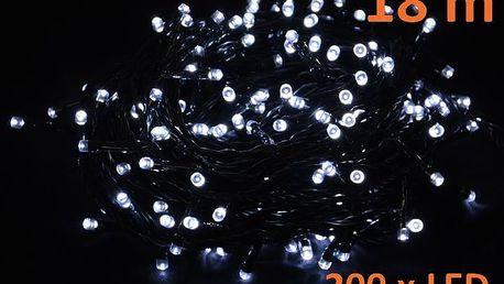 Nexos 819 Vánoční LED osvětlení 18 m - studeně bílé, 200 diod
