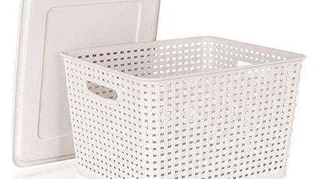 Banquet RATTAN úložný box s víkem 5l krémová