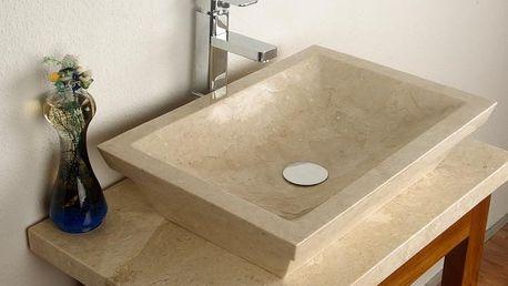Divero 634 Umyvadlo z přírodního kamene Bergamo