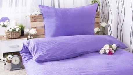XPOSE ® Krepové povlečení MICHAELA - fialová 140x200, 70x90