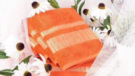 Night in Colours Bambusový ručník ARYA - cihlová 50x90 cm
