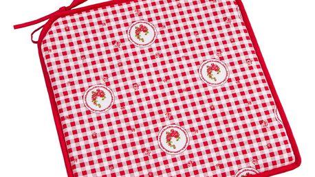 Trade Concept Sedák Elegant kostka červená, 40 x 40 cm