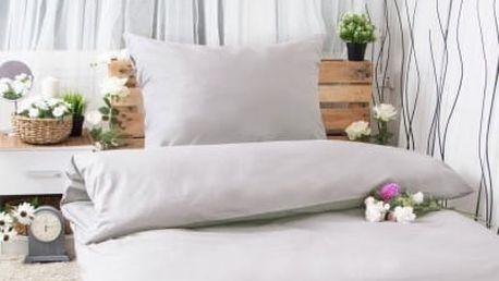 XPOSE ® Bavlněné povlečení na dvě lůžka MICHAELA - světle šedá 140x200, 70x90