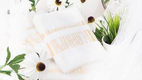 Night in Colours Bambusový ručník ARYA - krémová 50x90 cm