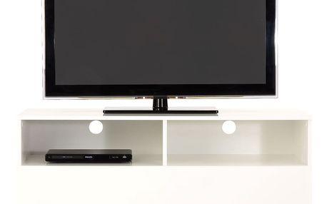 Bílý televizní stolek Woodman Blanco - doprava zdarma!