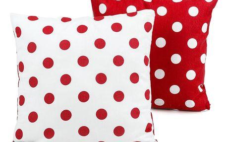 4Home Povlak na polštářek Červený puntík, 40 x 40 cm