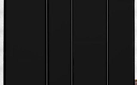 Paraván kovový 4 dílný černý