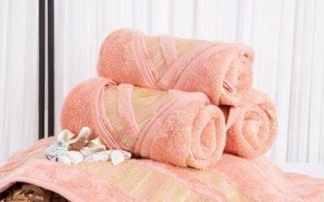 XPOSE ® Bambusový ručník MINA - lososová 50x90 cm