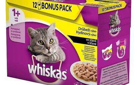 Whiskas kapsa Menu ze 4 druhů masa 12x100g