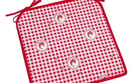 Trade Concept Sedák Country kostka červená, 40 x 40 cm