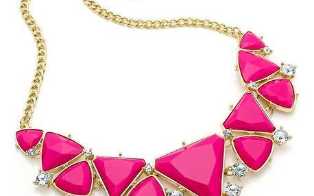 Růžový náhrdelník Ashley 29188