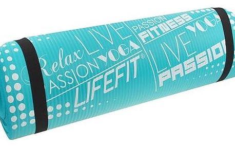 Podložka LIFEFIT Yoga Mat Exkluziv Plus 180x60x1,5cm tyrkysová