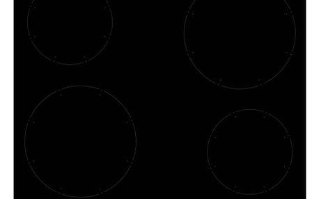 Indukční varná deska Amica KMI13311C černá + DOPRAVA ZDARMA