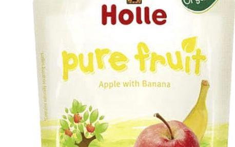 6x HOLLE Bio Ovocné pyré jablko a banán, 90 g