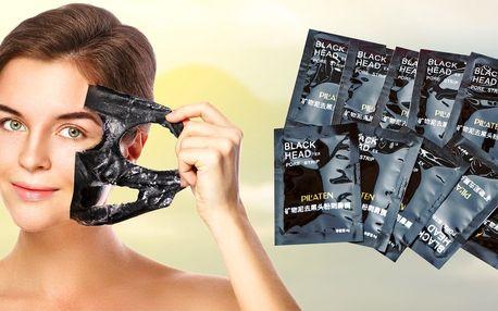 10x pleťová maska PILATEN s aktivním uhlím