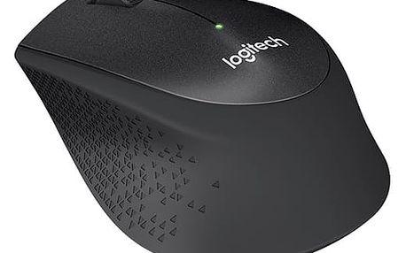 Myš Logitech M330 Silent Plus (910-004909) černá / optická / 3 tlačítka / 1000dpi
