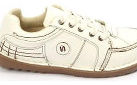 Kvalitní dámské kožené boty SUPER IN White-brown