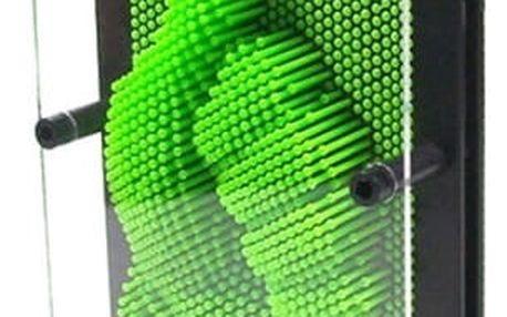 Pin Art 3D otisky - zelená - velikost M - dodání do 2 dnů