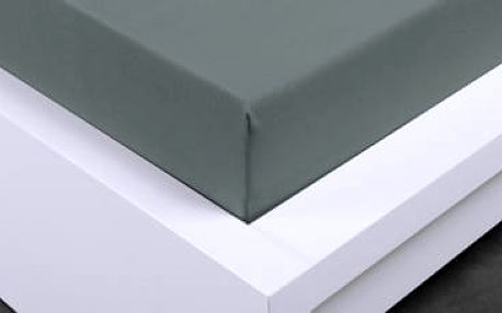 XPOSE ® Jersey prostěradlo jednolůžko - tmavě šedá 90x200 cm