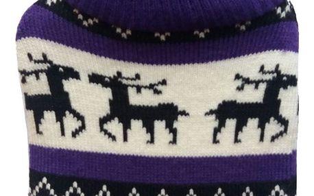 Termolahev s pleteným obalem Sobi fialová, 1L