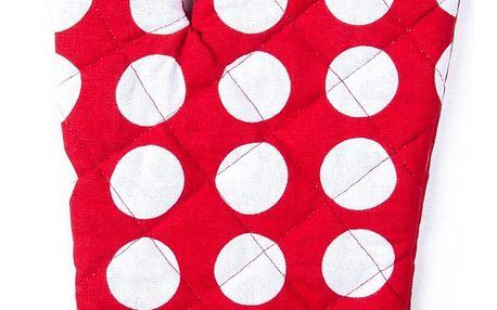 4Home Chňapka Červený puntík, 18 x 30 cm