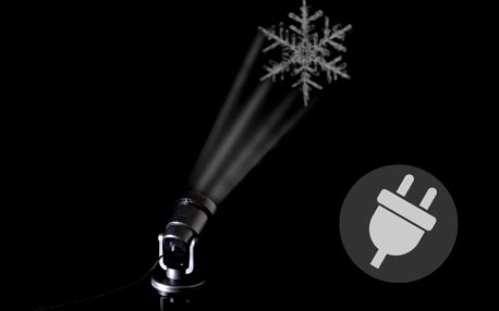 Nexos 41716 Venkovní LED projektor - sněhová vločka - dosah 15 - 20 m