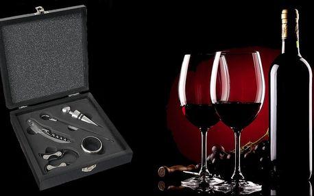 Sada 5 pomůcek v dárkové kazetě pro milovníky vína
