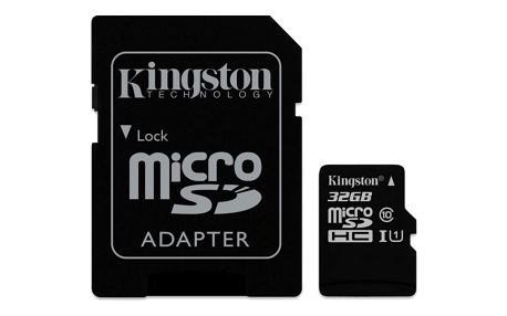 Paměťová karta Kingston 32GB UHS-I U1 (45R/10W) + adapter (SDC10G2/32GB)