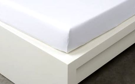 XPOSE ® Jersey prostěradlo jednolůžko - bílá 90x200 cm