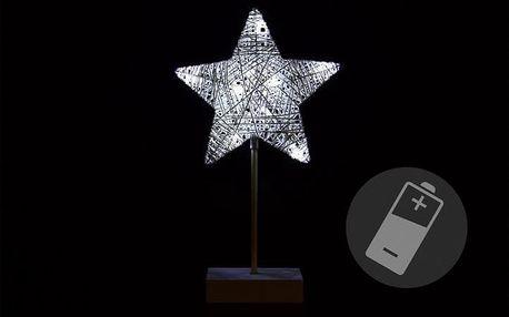Nexos 33204 Vánoční dekorace - hvězda - 40 cm 10 LED