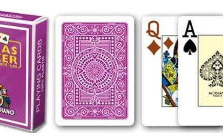 Modiano 2088 100% plastové karty 2 rohy - Fialové