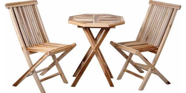 Divero 2285 Zahradní nábytek z týkového dřeva
