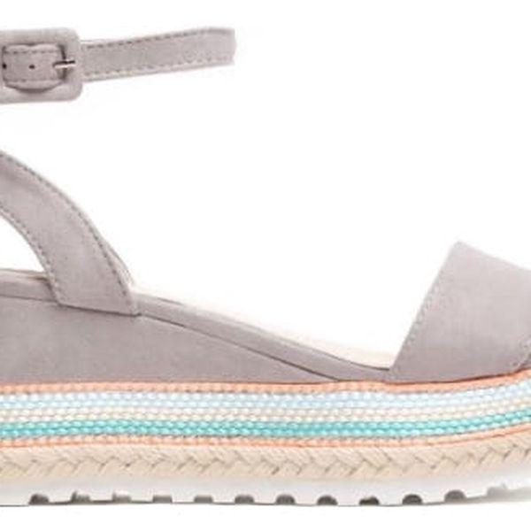 Dámské šedé sandály na platformě Keira 6095