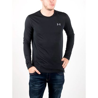 Tričko Under Armour Threadborne Fitted LS Černá