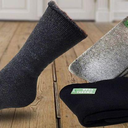 Balení 3 párů pánských termo ponožek