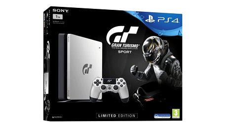 Herní konzole Sony SLIM 1TB + Gran Turismo Sport Speciální edice + PS Plus 14 dní (PS719909767) černá/stříbrná + DOPRAVA ZDARMA