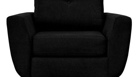 Černé křeslo s tmavými nohami Mazzini Sofas Cedar - doprava zdarma!